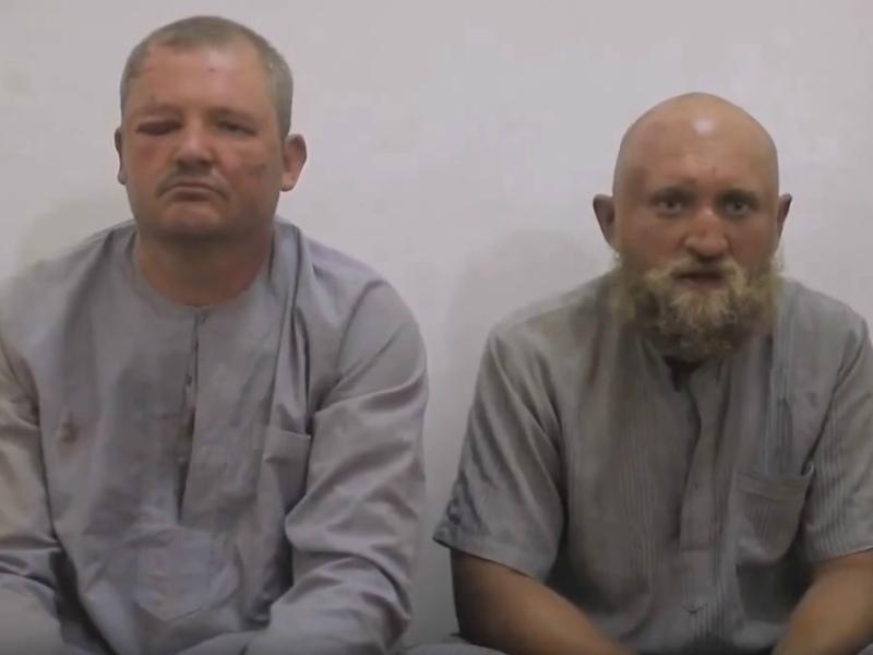 Григорий Цуркану (слева) и Роман Заболотный попали в плен и были казнены // Стоп-кадр YouTube