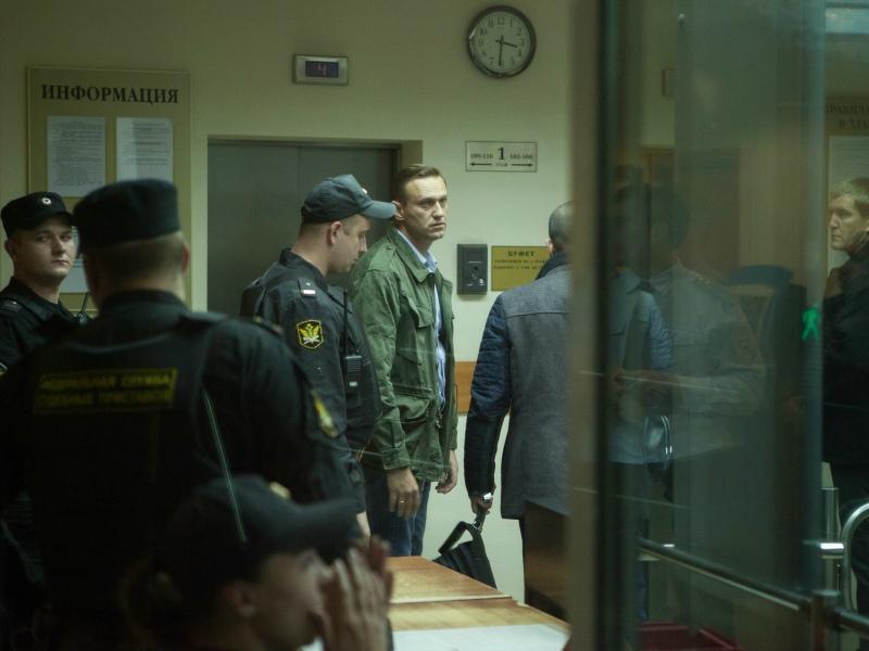 Арест Алексея Навального 2 октября 2017 года // Фото: Global Look Press