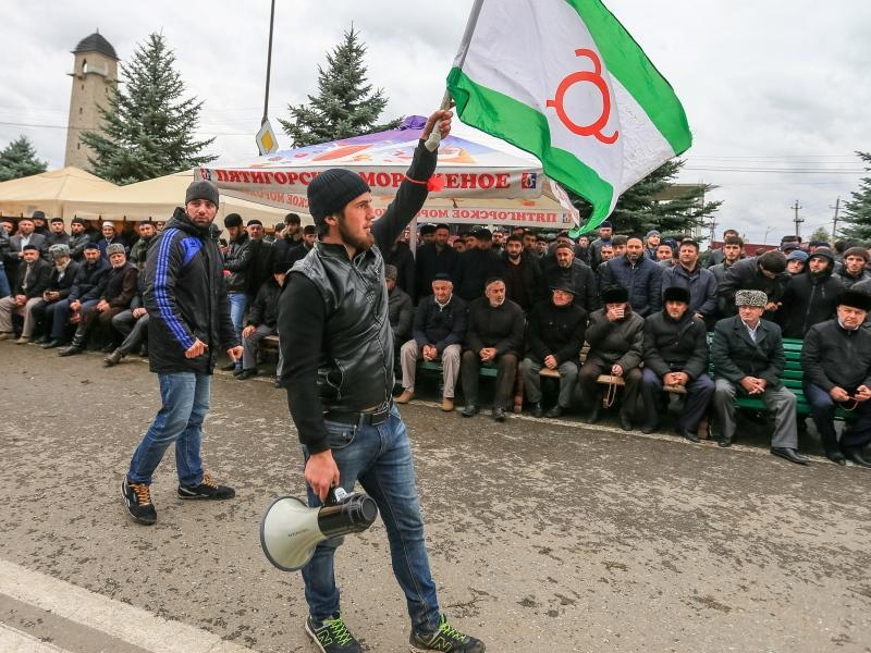 Митинг в Магасе против принятия соглашения об установлении границы между Ингушетией и Чечней // фото: Владимир Смирнов / ТАСС
