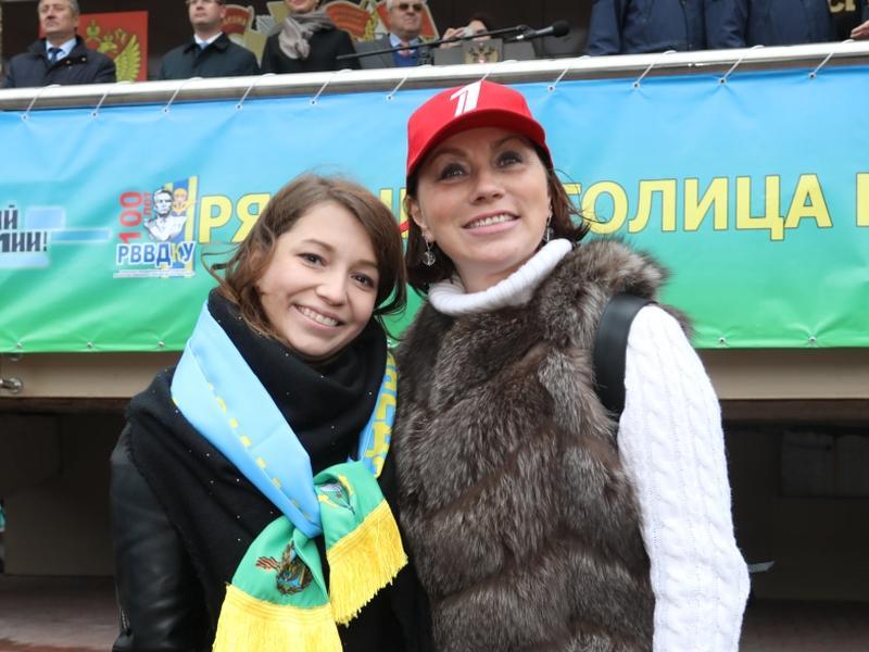 Роза Сябитова с дочерью Ксенией // фото: «Первый канал»