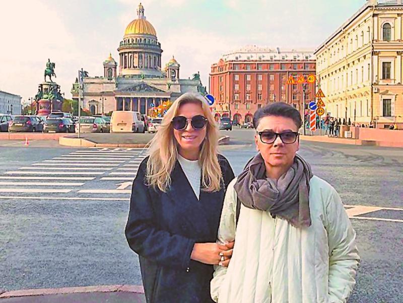 Супруги Юдашкины в Санкт-Петербурге // фото: Instagram