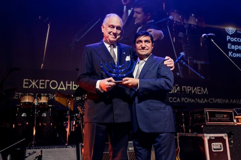 Глава ВЕК Рональд Лаудер и вице-президент ВЕК Год Нисанов