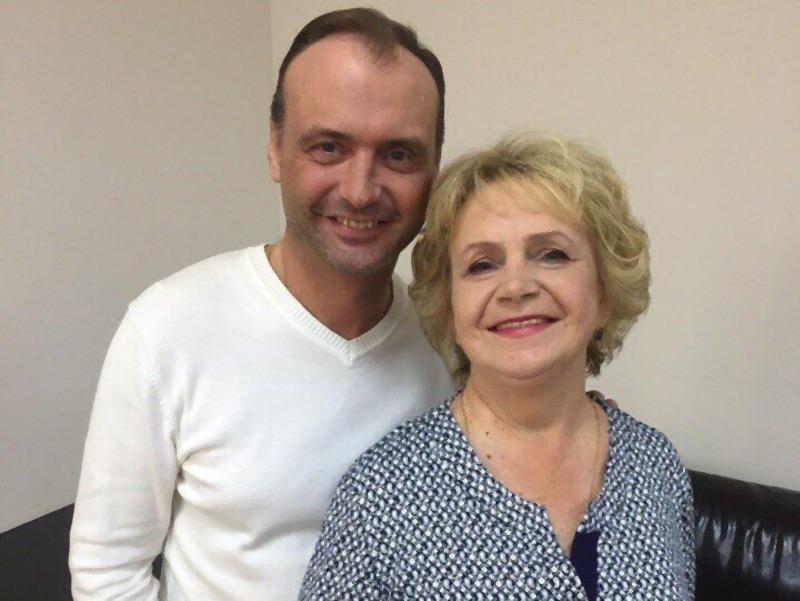 Марк Горонок с мамой
