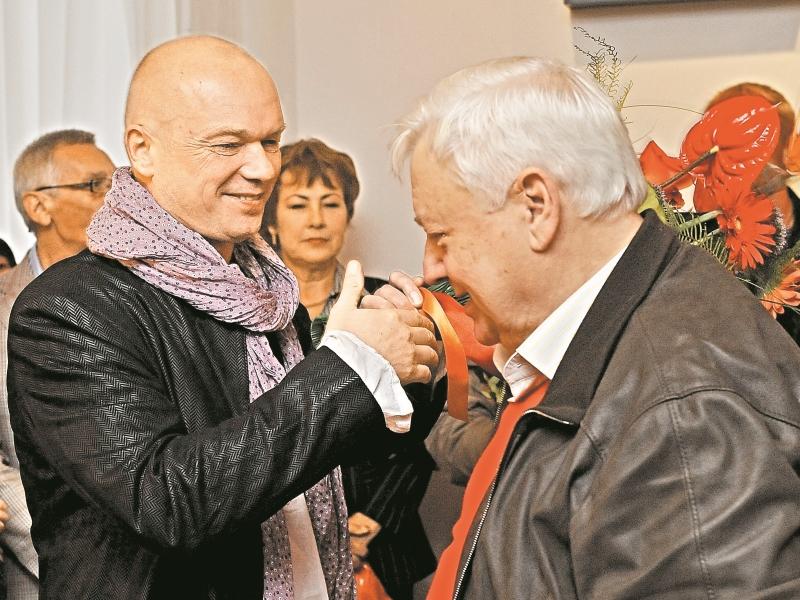 """Андрей Смоляков и Олег Табаков. Фото: Андрей Струнин / """"Собеседник"""""""