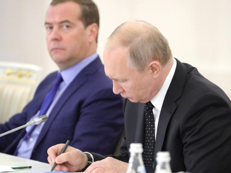 Путин и Медведев // фото: Global Look Press