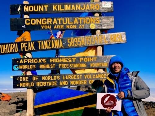 Алексей Небыков на Килиманджаро