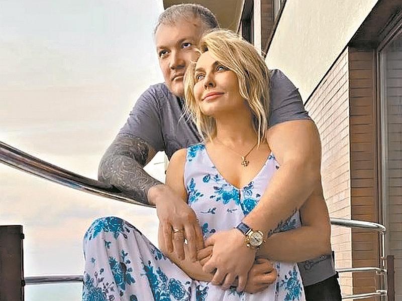 Татьяна Овсиенко с мужем // фото: соцсети
