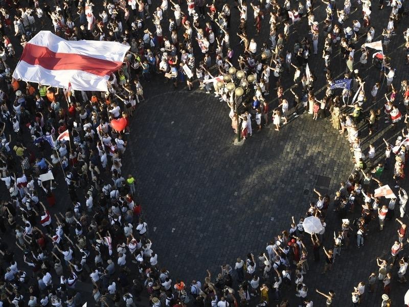 Протестующие в Минске // Фото: Global Look Press
