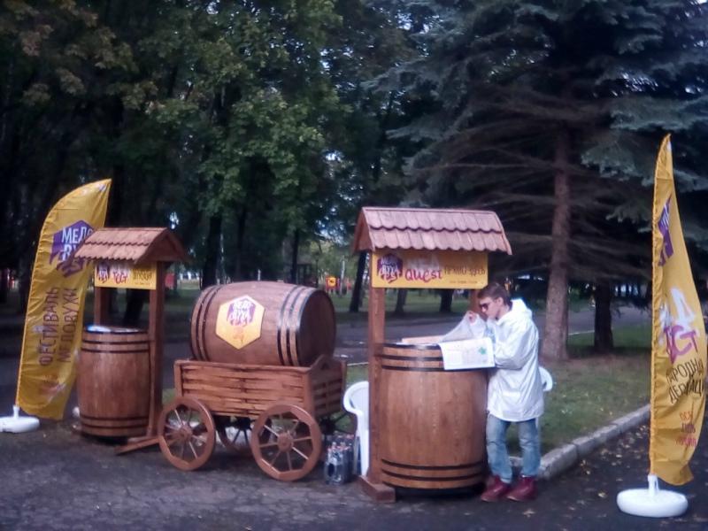 Продегустировать напиток можно было в различных локациях фестиваля