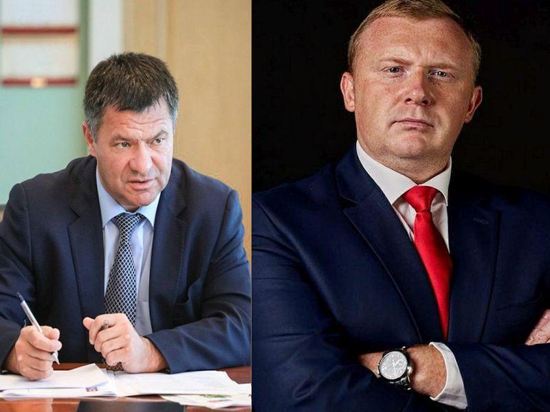 Слева: врио губернатора Андрей Тарасенко; справа: кандидат от КПРФ Андрей Ищенко // Фото: Global Look Press