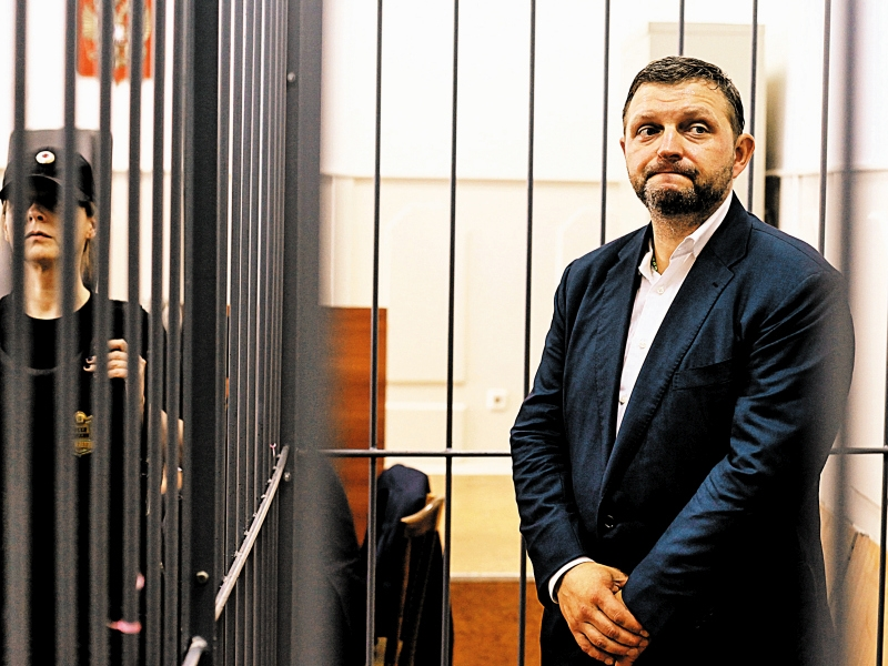 """Никита Белых в зале суда. Фото: Агентство городских новостей """"Москва"""""""