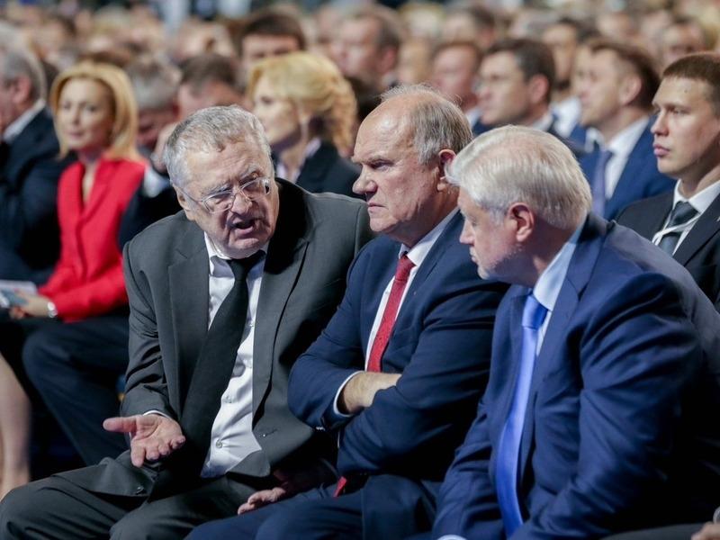 Владимир Жириновский, Геннадий Зюганов, Сергей Миронов // Фото: Global Look Press
